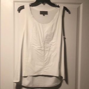 Anthropologie faux leather top